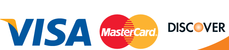 We Proudly Accept Visa, Mastercard, and Discover