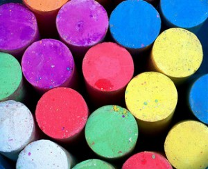 Chalk Painting for kids