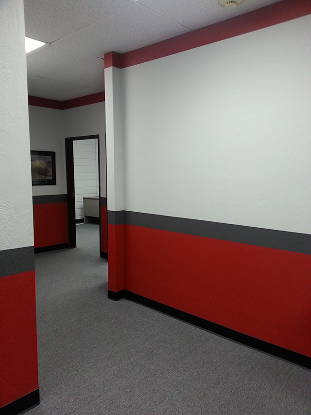 Office Facelift Using Graphic Painting & Striping